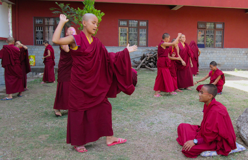 educating Tibetan Buddhist nuns, Tilokpur Nunnery, Education Tibetan Buddhist nuns