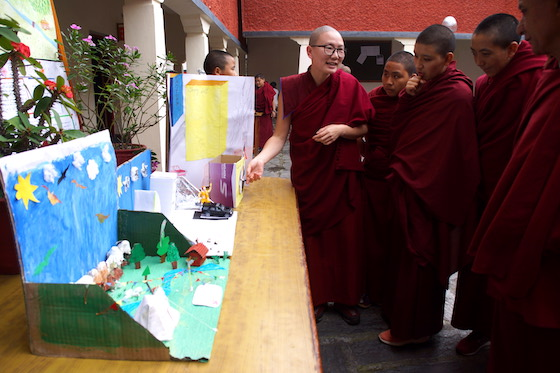 Tibetan Buddhist nuns science fair at Dolma Ling 2019