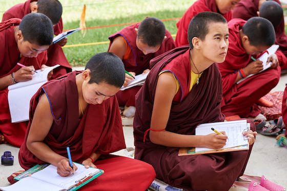 teacher salaries, Tibetan Buddhist education, Tibetan Buddhist nuns, Tibetan nuns, Tibetan education and culture, educating women