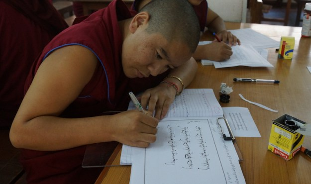 Tibetan calligraphy, Tibetan writing, calligraphy, Tibetan language, Tibetan culture, Tibetan Nuns Project