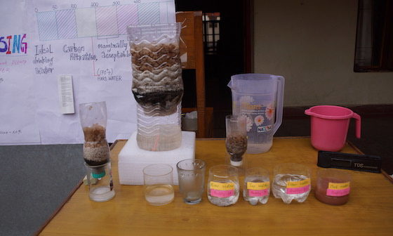 Water filtration project at Dolma Ling Science Fair