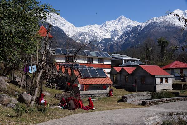 water storage, solar panels, Dolma Ling Nunnery