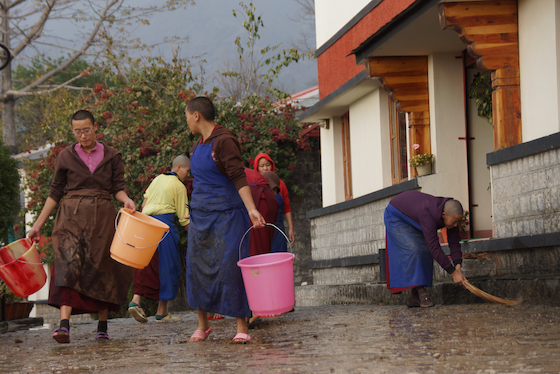 cleaning before Losar Tibetan New Year