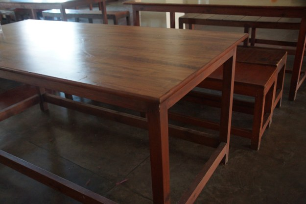 dining table furniture, Dolma Ling Nunnery