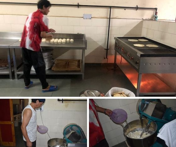 dough machine, making chapatis , Shugsep Nunnery