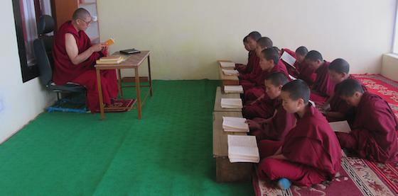 nuns studying at Sherab Choeling Nunnery