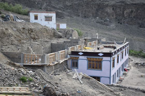 New buiding at Dorjee Zong Nunnery in Zanskar