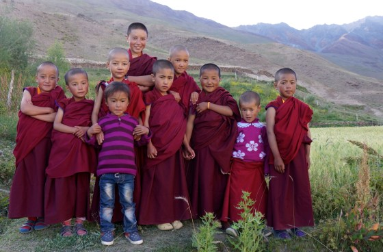 young nuns at Dorjee Zong Nunnery in Zanskar
