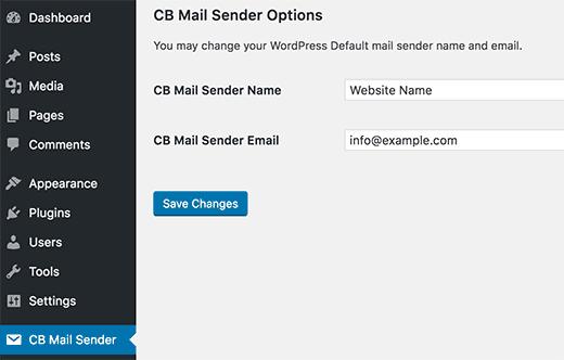 Change Sender Name