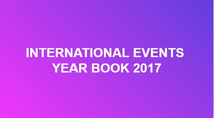INTERNATIONAL EVENTS YEAR BOOK 2017