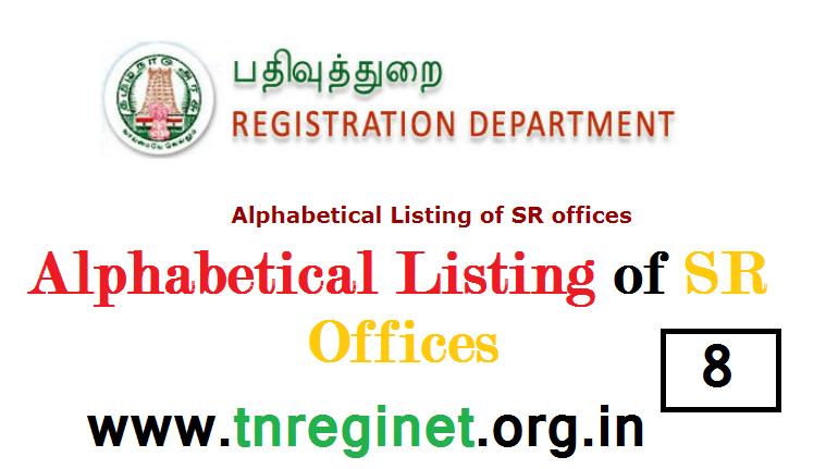 Alphabetical Listing of SR offices - tnreginet-net-in - 08