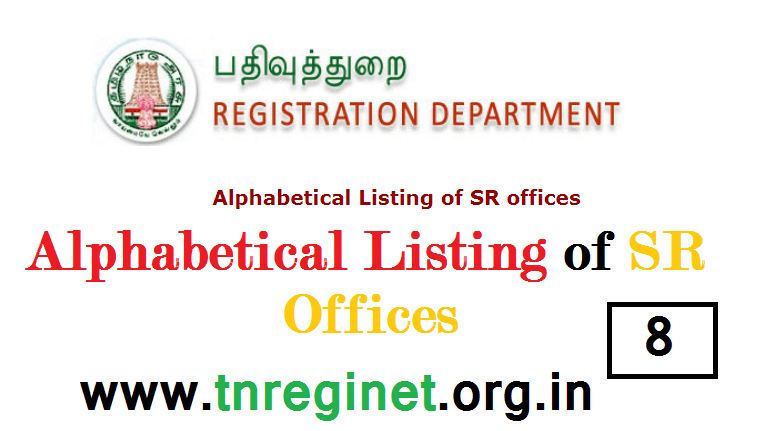 Alphabetical Listing of SR offices - tnreginet-net-in - 08