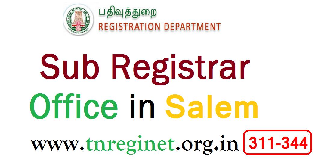 Sub Registrar Office in Salem- tnreginet-org-in -