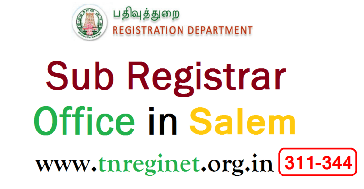 Sub Registrar Office in Salem- tnreginet-org-in -