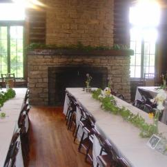 Rustic Kitchen Tables And Chairs Bar Big Ridge State Park — Tennessee Parks