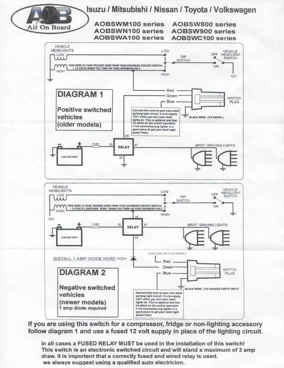 medium resolution of the below diagram is what comes with the aob switch a6341a6f e514 4b72 a1dc d36de44fa400 jpg