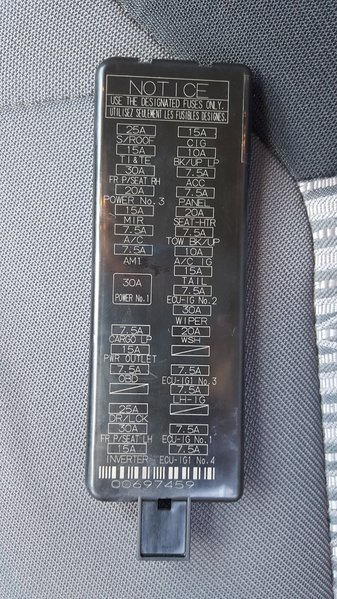 2010 Toyota Highlander Fuse Panel Diagram Interior Fuse Box Location And Information Toyota Tundra