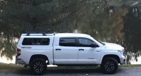 What length roof rack crossbars on a cap?