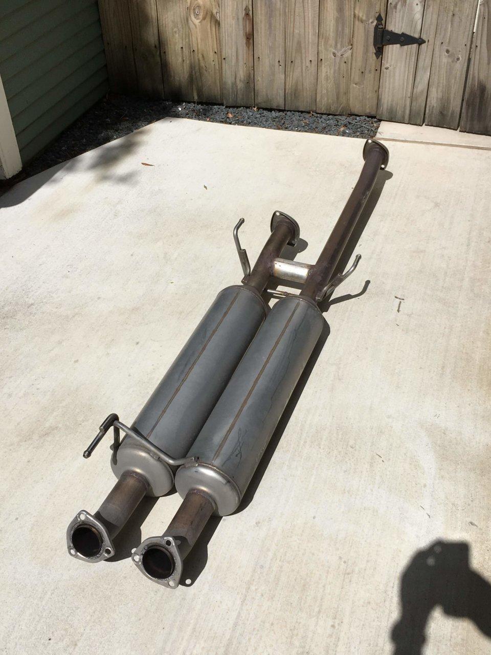 trd dual exhaust muffler section w