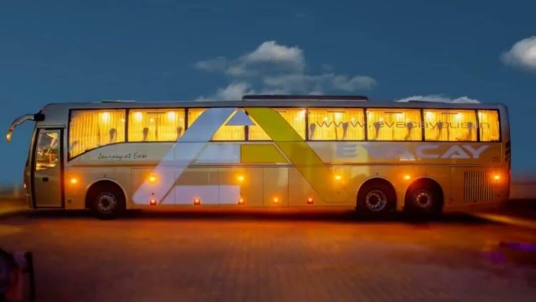 Evacay Bus Trivandrum Bangalore Bengaluru Volvo B11R AC Semi sleeper 1