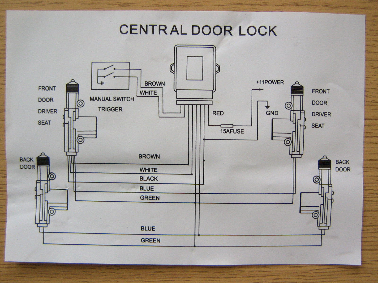 Door Lock System Wiring Diagram On Power Door Lock Wiring Diagram