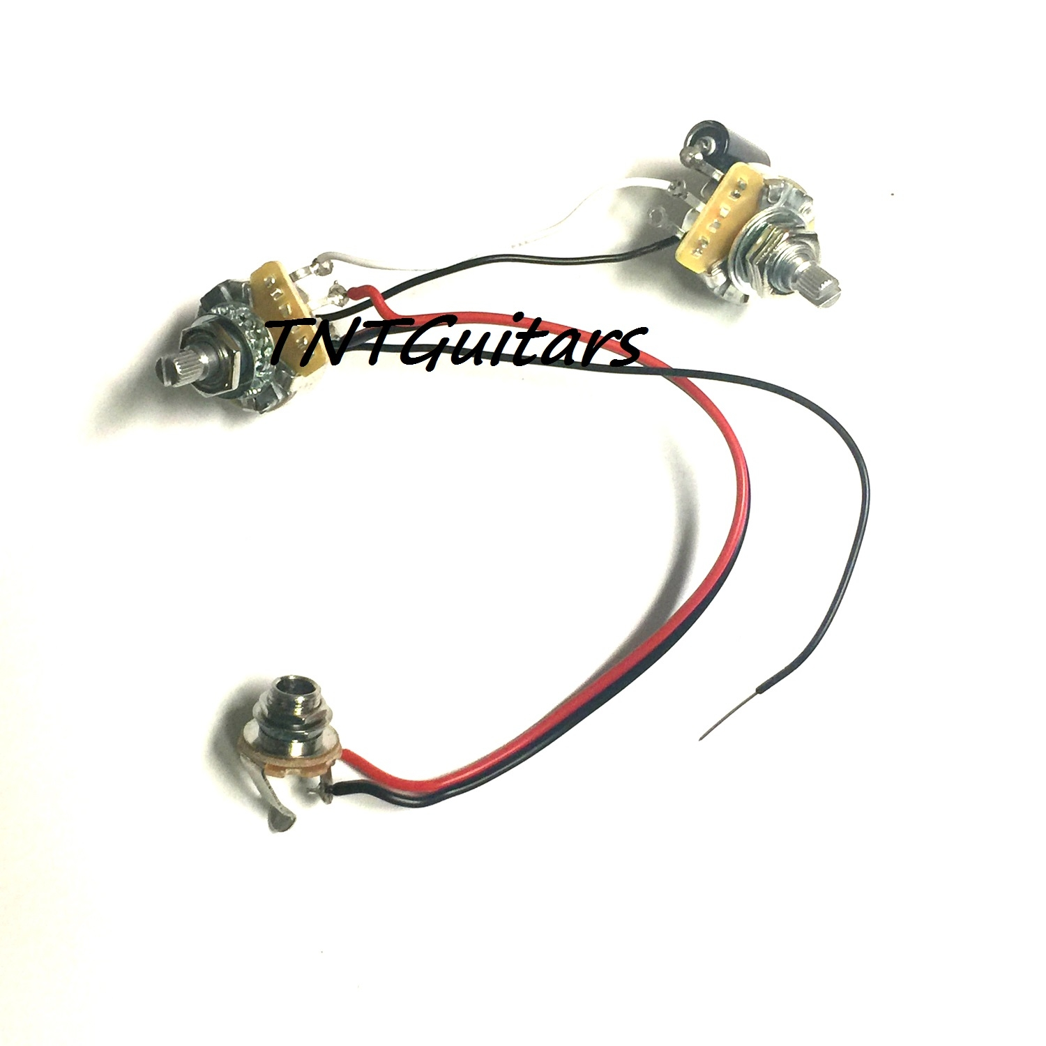 hight resolution of 1v1t one pickup wiring harness cts pots prewired harness1v1t one pickup wiring harness cts
