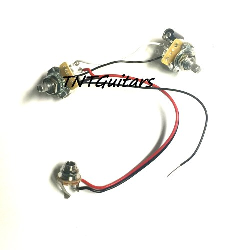 small resolution of 1v1t one pickup wiring harness cts pots prewired harness1v1t one pickup wiring harness cts