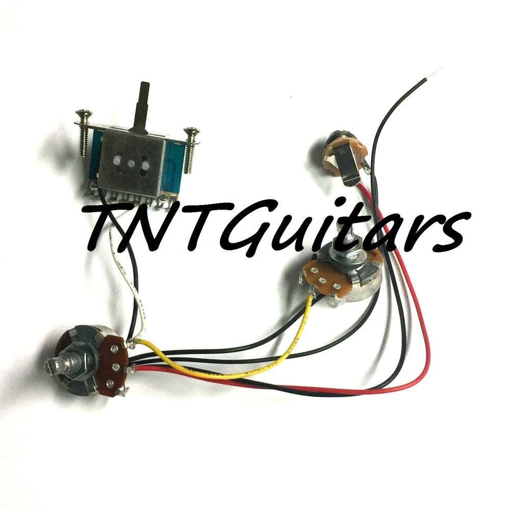 medium resolution of 1v1t prewired harness 2 pickup 1volume 1tone 3w blade switch