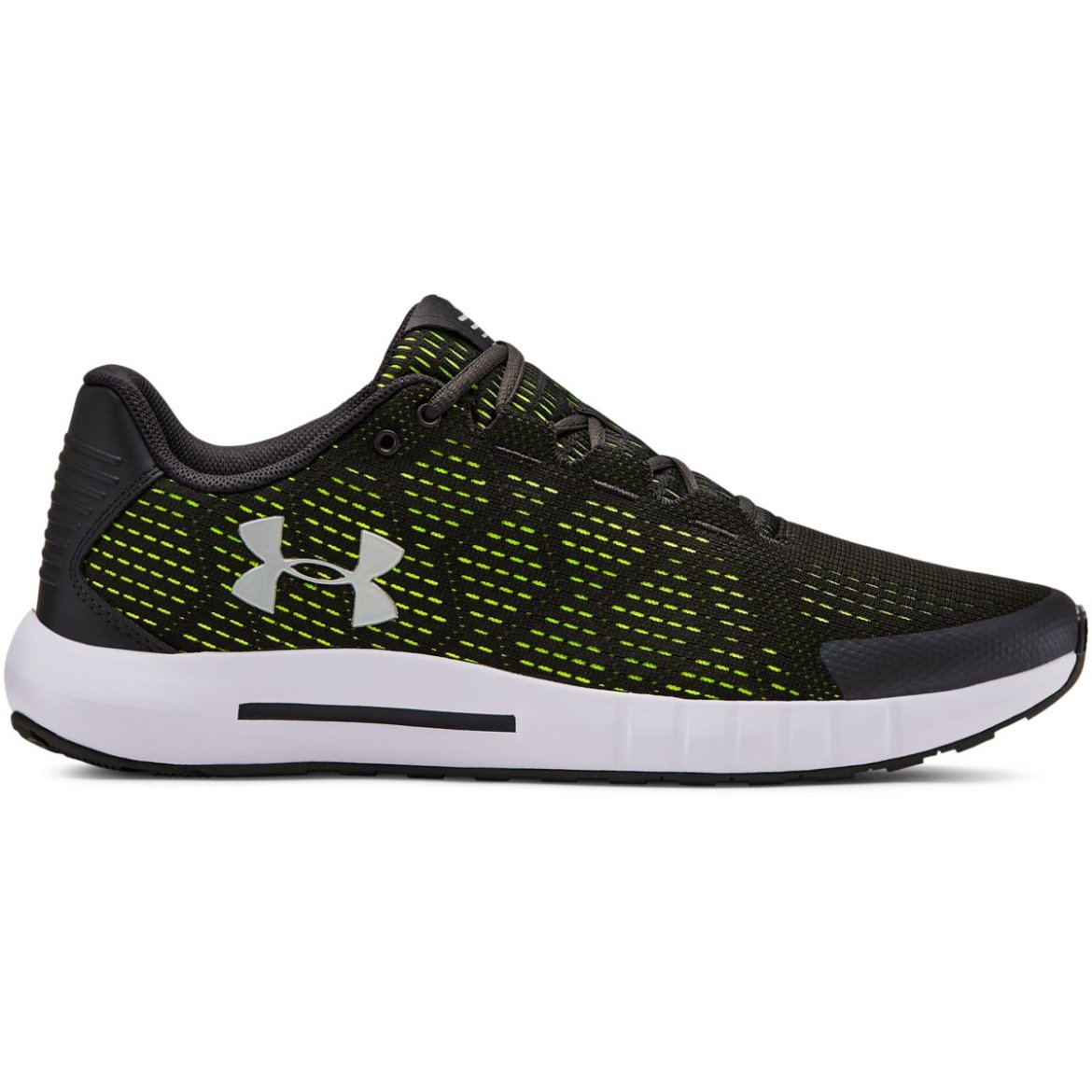 Under Armour Black and Yellow Men's Pursuit Running Shoes