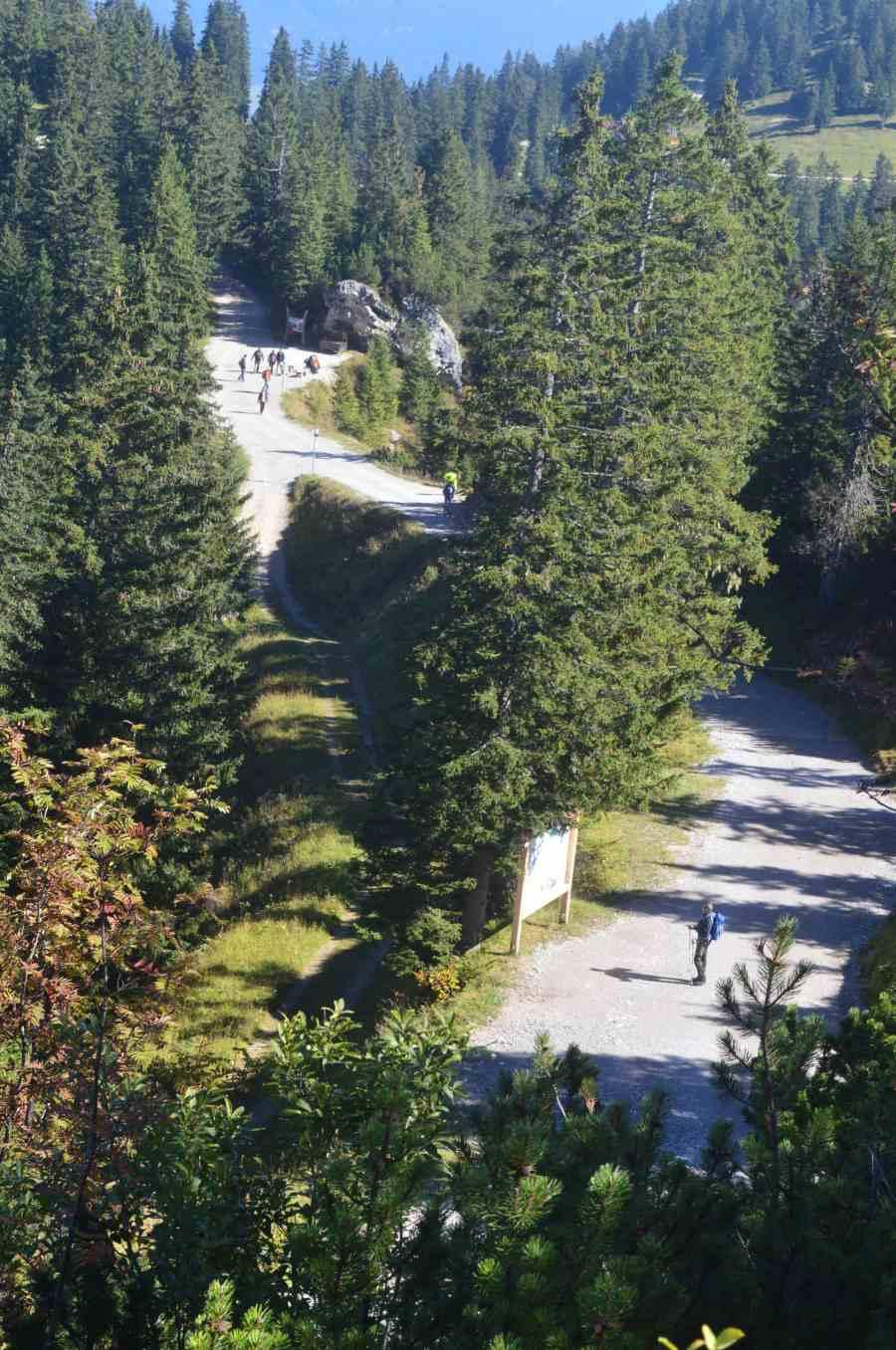 Easy hike from Kreutzeck to Hochalm