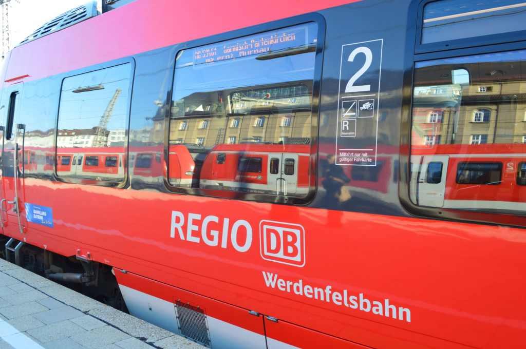 Werdenfelsbahn from Munich to Garmisch-Partenkirchen
