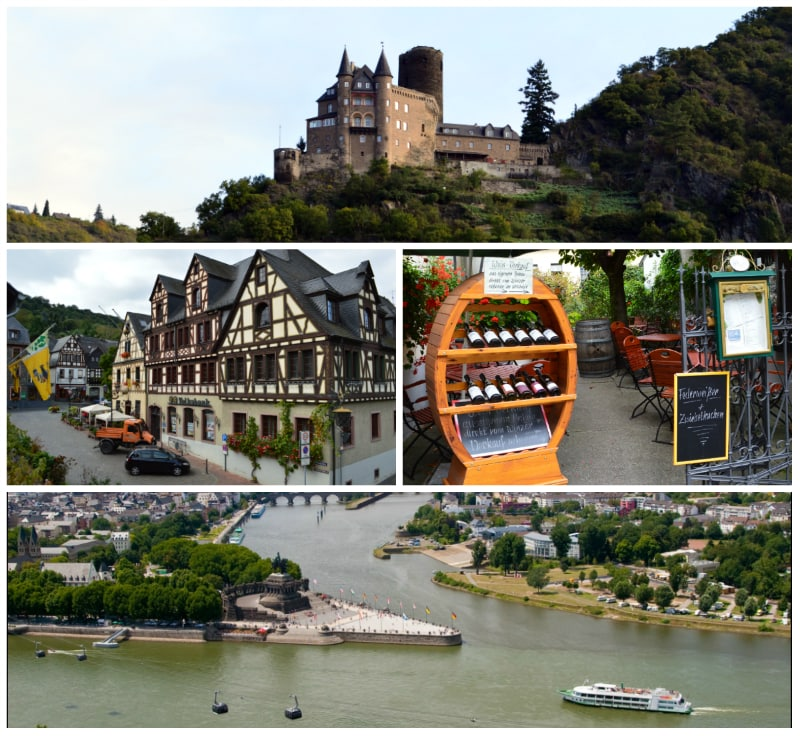 Impressions along the Rhine and Deutsches Eck in Koblenz