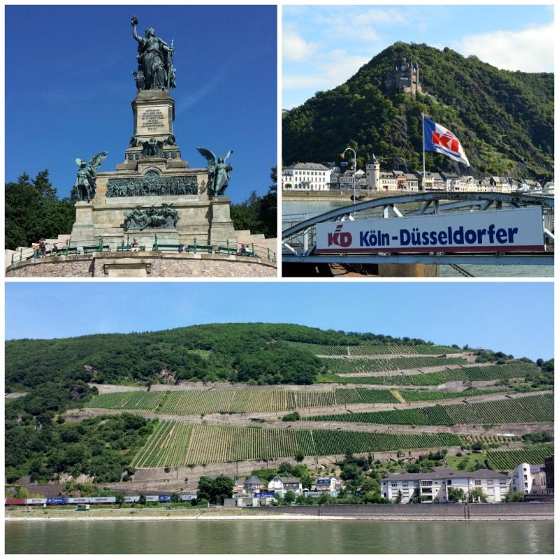 Niederwald Monument, Vine Yards Rudesheim and View Katz Castle in St. Goearshausen Germany to-europe.com
