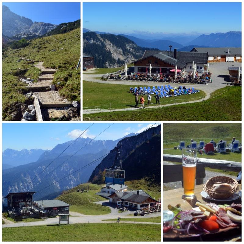 The Alps Zugspitz Daytrip by Rail, Brotzeit at the Hochalm