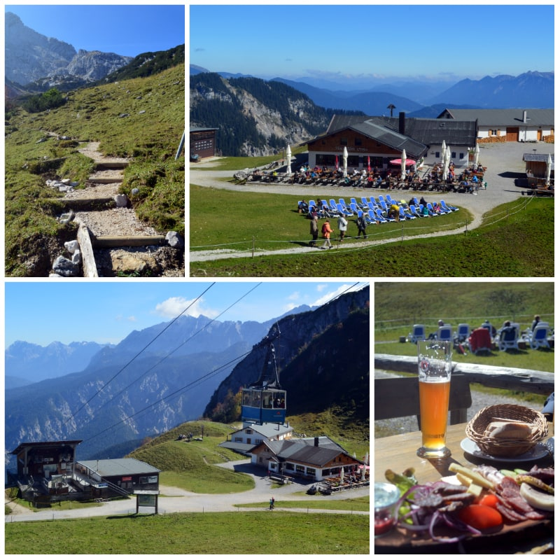 The Alps Zugspitz Daytrip by Rail, Brotzeit at the Hochalm