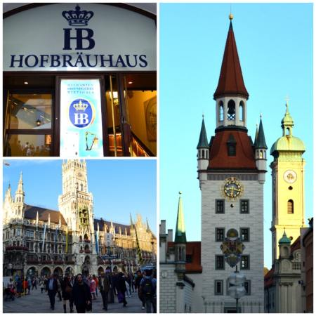 Bavaria Innsbruck Lake Constance Rail Tour, Munich around Marienplatz and Hofbrauhaus