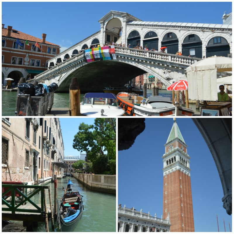 Europe for Lovers Rail Tour, Rialto Brigde, Chanel and St. Mark's Campanile Venice Italy To-europe