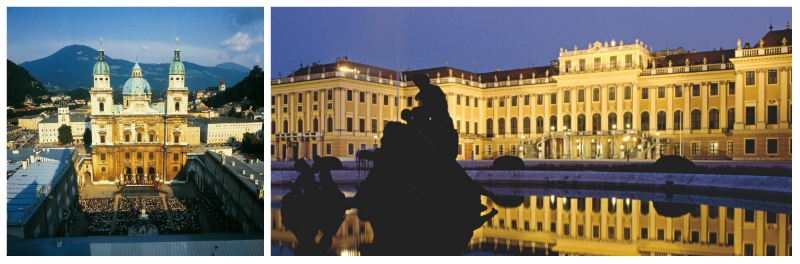 Central Europe Classic Luxury Rail Tour, Schoenbrunn Palace and Church of Mariahilf Vienna Austria to-europe.com