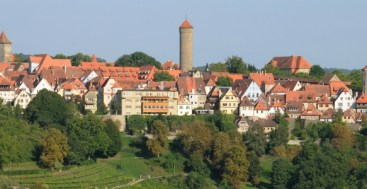 Citysilhoutte of Rothenburg ob der Tauber Germany to-europe.com