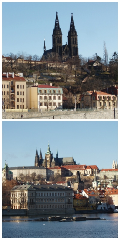 Central Europe budget tour, Prague Castle and Church of Ludmilla Czech to-europe.com