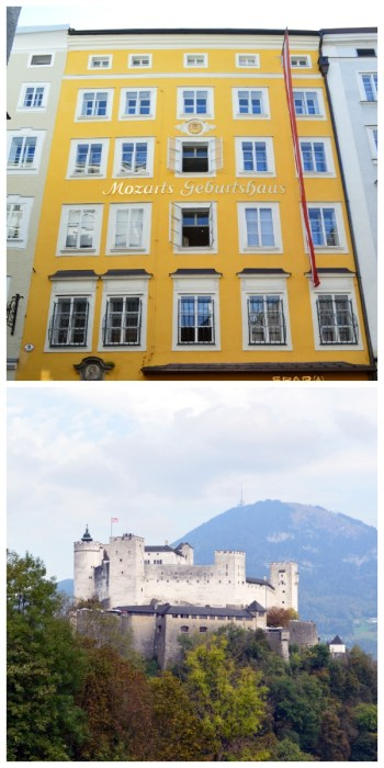 imperial cities rail circle tour, Salzburg Mozart House and Hohensalzburg ©Thomas H. Giesick