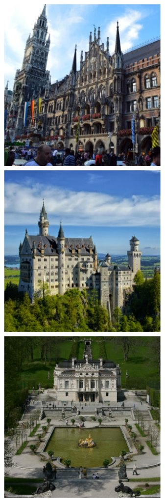 Frankfurt to Rome Rail Tour, Munich Town Hall, Neuschwanstein Castle and Linderhof Palace Germany to-europe.com
