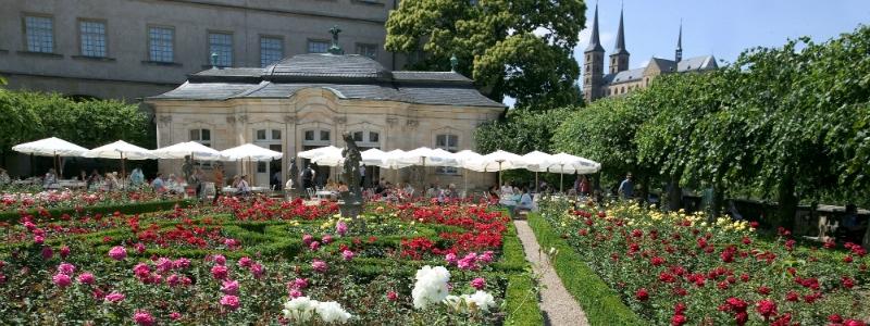 Bavarian Castles Stays Self-Drive Tour, Rosegarden New Residence Bamberg Germany