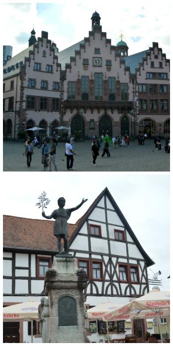German Fairy Tale Rail Circle Tour, Frankfurt Romer and Hanau Germany to-europe.com