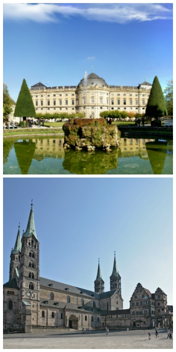Bavarian Castles Stays Self-Drive Tour, Wurzburg Residence and Bamberg Cathedral Germany to-europe.com