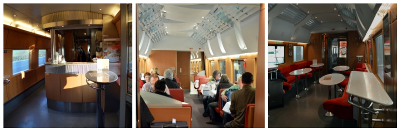 German Holiday Tours by Rail, Restaurant and Bistro on board of the ICE
