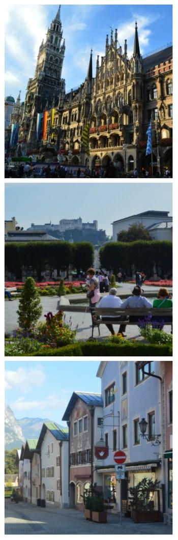 Romantic Road Bavaria Salzburg Rail Tour, Munich Town Hall, Hohensalzburg in Salzburg and Garmisch-Partenkirchen