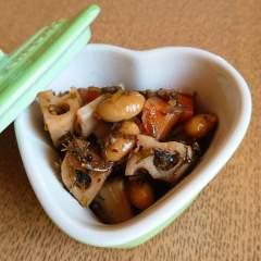 大豆レンコンアカモク煮