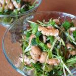 【アカモクレシピ】豆苗・サバ缶・納豆とアカモクのねばねば和え