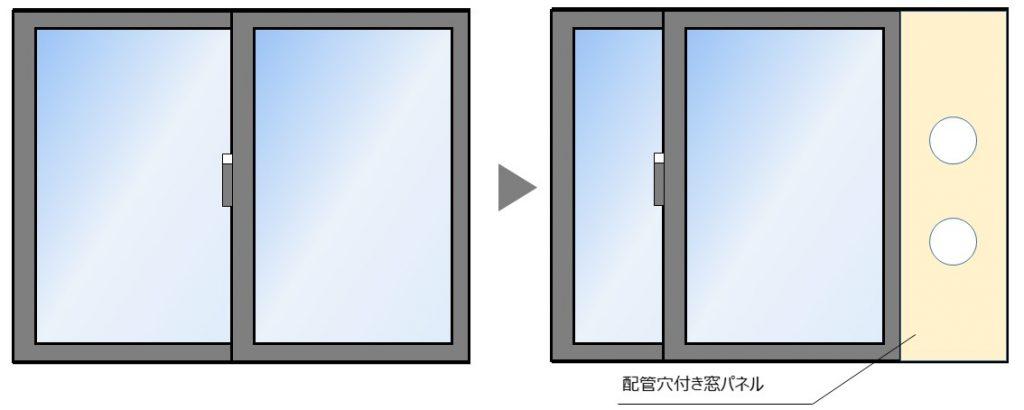 窓パネル取付イメージ